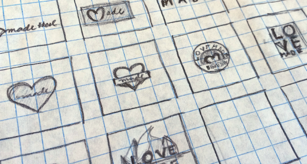 Image of thumbnails for a logo