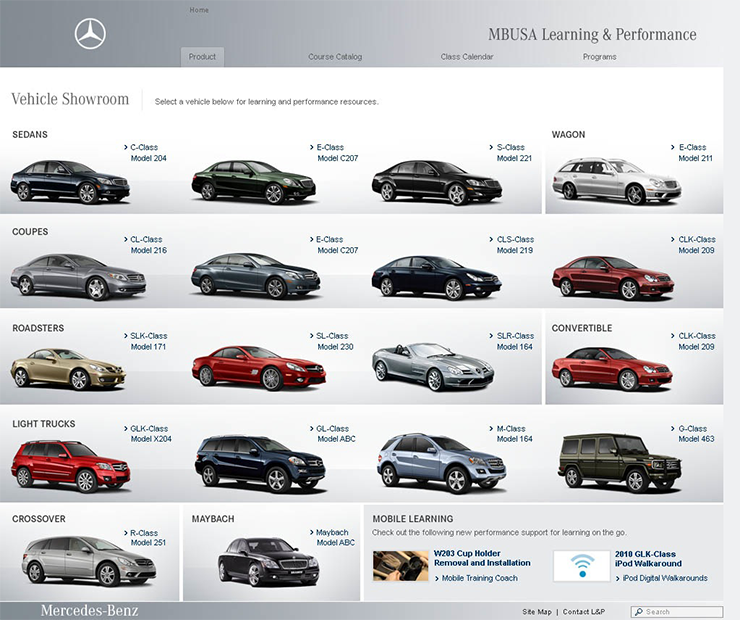 MBUSA Learning Link  Screen